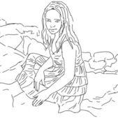Lovely cute teen-girl. — Stok Vektör