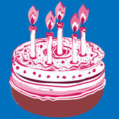 Birthday Cake. — Stock Vector
