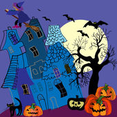 Halloween vector kaart — Stockvector