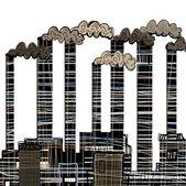 Industrial building factory — Stock Vector