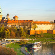 Vistula river in Krakow, Poland. — Stock Photo