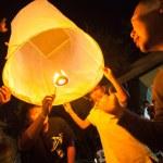 New Year celebrations in Chiangmai, Thailand. — Stock Photo
