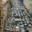 Cars stands in traffic jam — Stockfoto