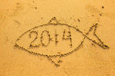 2014 inside the fish — Stock Photo