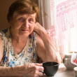 Woman at her home — Stock Photo
