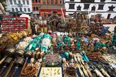 Sprzedający pamiątki na durbar square — Zdjęcie stockowe