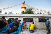 Repairing of Stupa Boudhanath — Stock Photo