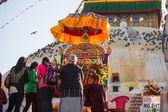 Buddhist pilgrims — Stok fotoğraf