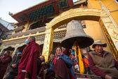 Buddhist pilgrims — Foto Stock