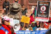 Participants protest — Stock Photo