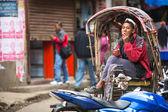 Nepálský rikša — Stock fotografie