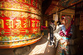 Buddhist prayer wheel — Stock Photo