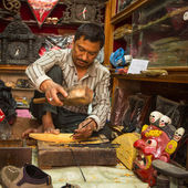 Nepalese man works — Stock fotografie