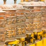 Tibetan Buddhist prayer wheels — Stock Photo #37902733