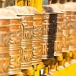 Buddhist prayer wheels — Stock Photo #37903001
