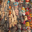 ������, ������: Masks souvenirs in street shop