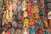 Indian God's Masks — Stock Photo