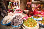 Unidentified street vendor — Stock Photo