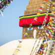 Bodhnath Stupa in Kathmandu with Buddha Eyes. — Stock Photo
