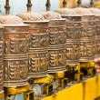 Tibetan Buddhist prayer wheels — Stock Photo
