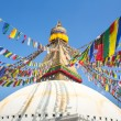 Bodhnath Stupa in Kathmandu with Buddha Eyes — Stock Photo