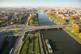 Bird's-eye view of the Vistula River — Stock Photo
