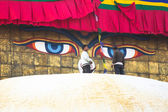 Unidentified workers on the stupa Boudhanath — Foto Stock