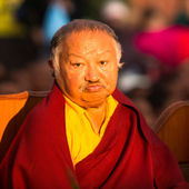 Unidentified tibetan Buddhist monk — Stock Photo