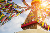 Bodhnath Stupa with Buddha Eyes — Stock Photo