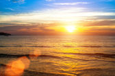 Beautiful ocean sunset. — Stock Photo
