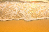 Soft wave of the sea, beach sand texture. — Stock Photo