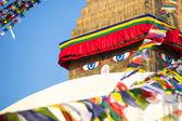 Kathmandu bodhnath stupa buda'nın gözleri — Stok fotoğraf