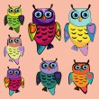 Set of Cute Owl — Stock Vector #38720997