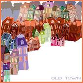Lite gamla stan — Stockvektor