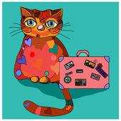 Concept cat in cartoon style. — Stock Vector