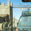 Stock Photo: One of military checkpoints on Altiplano, Bolivia.