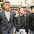 Stock Photo: Boris Nemtsov (L) russistatesman, one of leaders of opposition during rally to support 31st article of Constitution