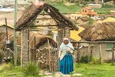 Non identifiés, les habitants d'aymara dans son village sur isla del sol, bolivie. — Photo