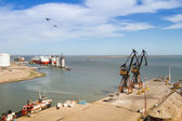 ViIew on the premises Port of Ingeniero White in Bahia Blanca, Argentina. — Stock Photo