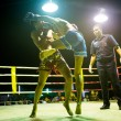 Unidentified Muaythai fighters in ring during match on Chang, Thailand. — Stock Photo #39025419