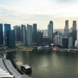 Stock Photo: View of city from roof MarinBay Hotel on Singapore.
