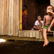 Unidentified children Orang Asli in his village in Berdut, Malaysia. — Stock Photo #39025525