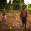 Постер, плакат: Unidentified children Orang Asli in his village in Berdut Malaysia