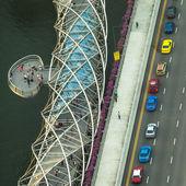 一个视图的城市从屋顶上新加坡滨海湾酒店. — 图库照片