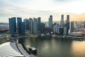 A view of city from roof Marina Bay Hotel on Singapore. — Foto Stock