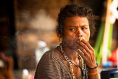 Unidentified woman Orang Asli in his village in Berdut, Malaysia. — Stock Photo