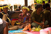 Unidentified people Orang Asli in his village 3 in Berdut, Malaysia. — Stock fotografie