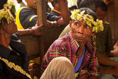Unidentified people Orang Asli in his village 3 in Berdut, Malaysia. — Foto de Stock