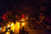 Unidentified people Orang Asli in his village 3 in Berdut, Malaysia. — ストック写真