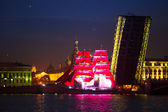 Celebration Scarlet Sails show during the White Nights Festival — Stock Photo